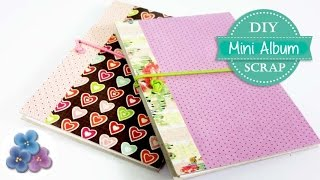 Como Hacer un Mini Album Scrapbook Tutorial DIY FACIL Cartonaje español Pintura Facil