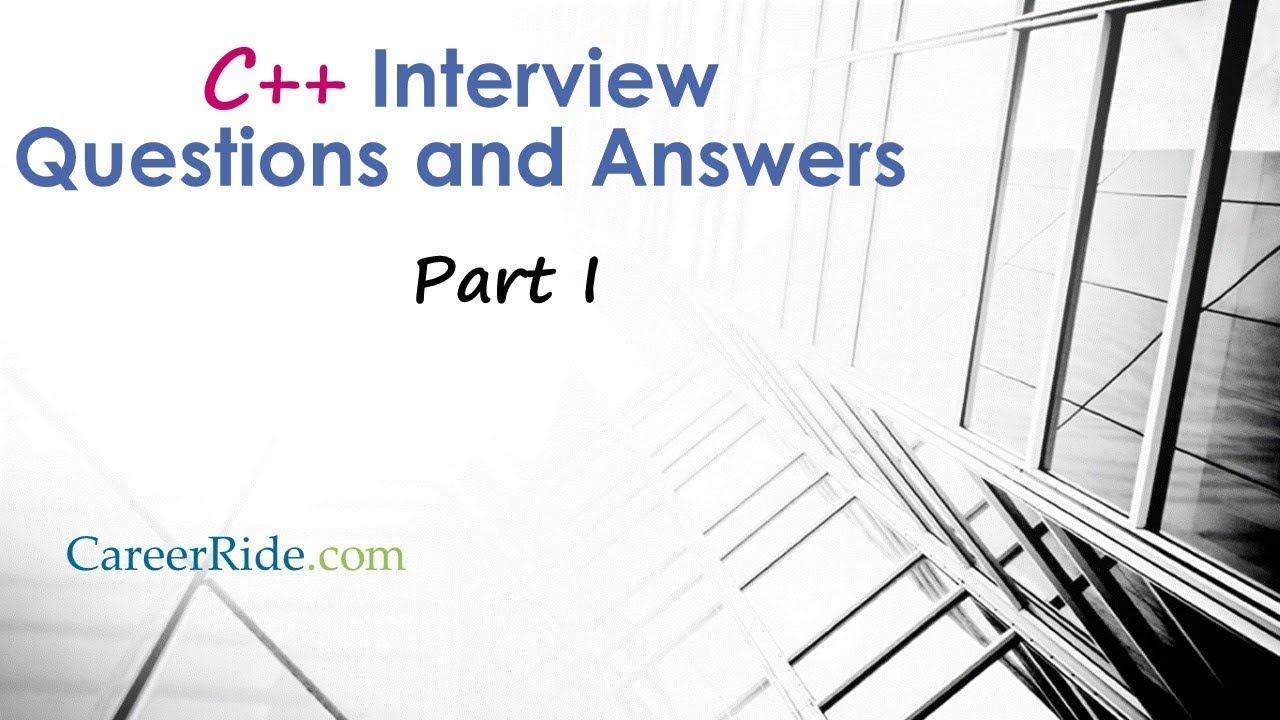 73 C++ Interview Questions and Answers