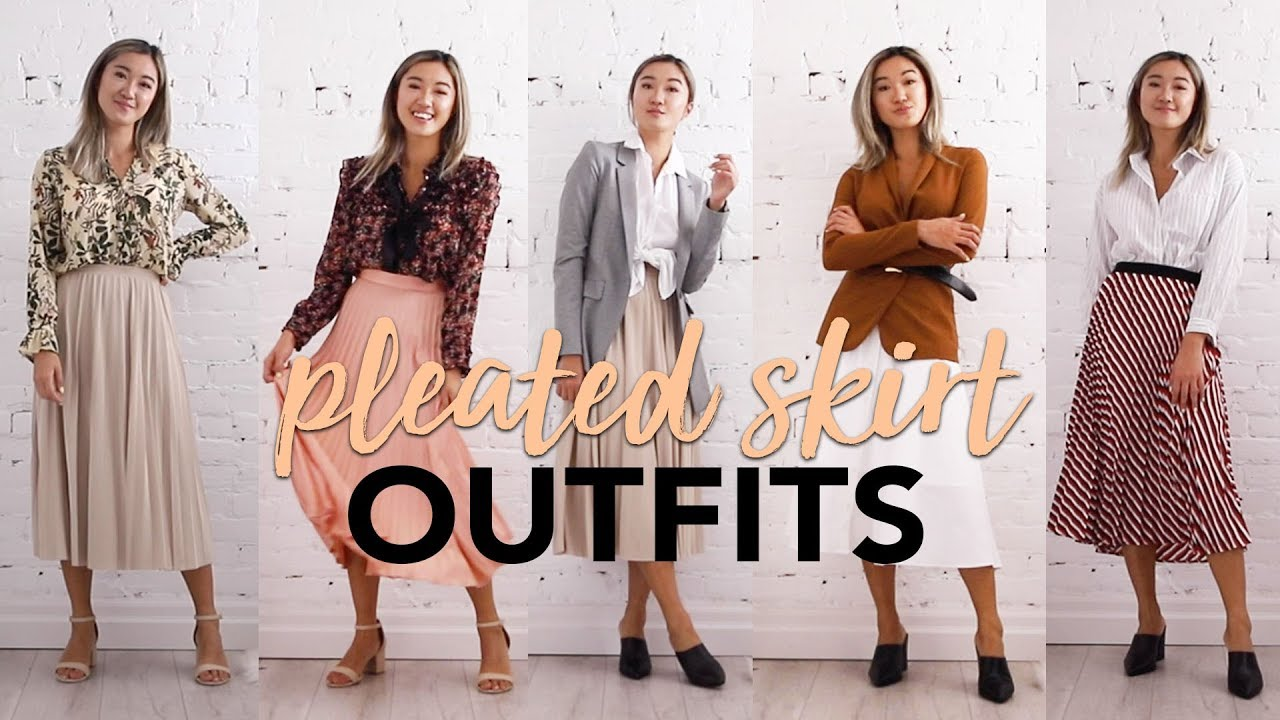 PLEATED SKIRTS: Outfits Ideas + How To Style