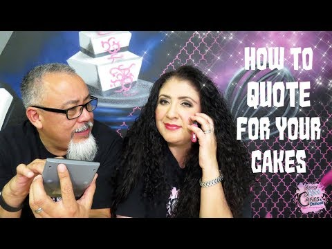 Quoting For Cakes! HOW TO! Cake Biz Video Series