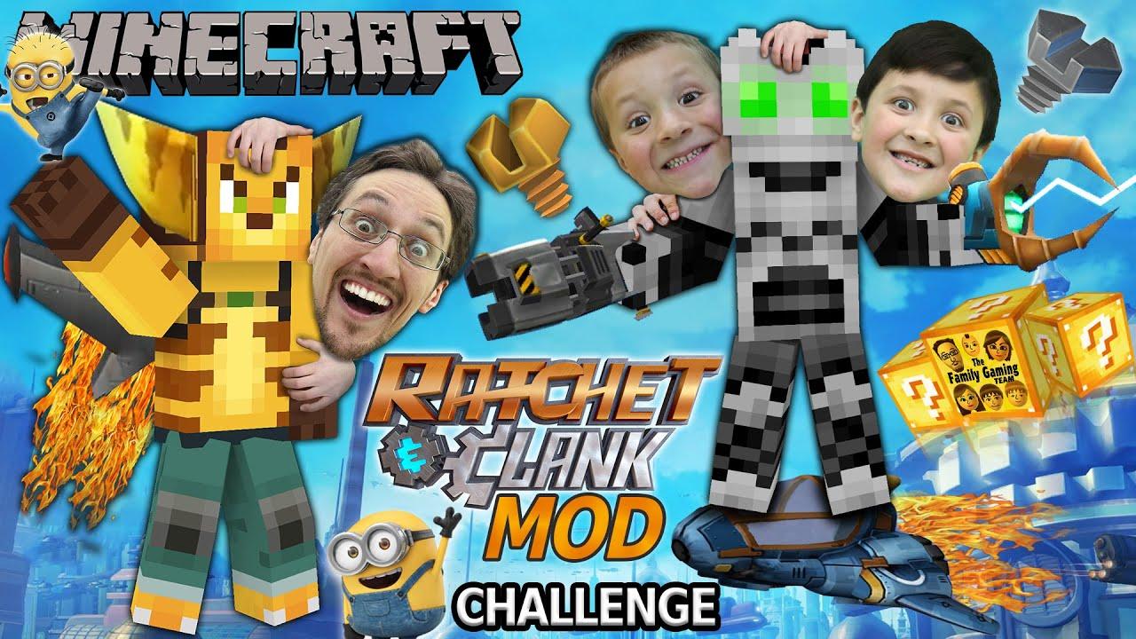 MINECRAFT Ratchet & Clank Lucky Block Challenge Mod 4 Round Battle