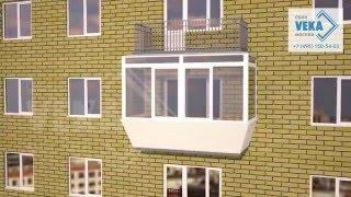 видео века остекление балконов