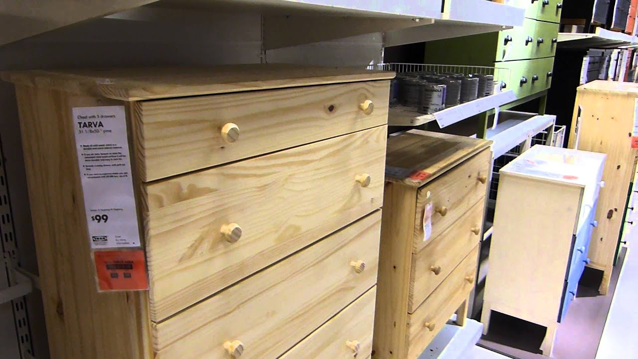 Charmant Ikea Tarva Unfinished (relatively) Solid Pine Furniture   YouTube