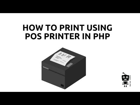 How To Print Using Pos/thermal Printer In Php | Robot Balok