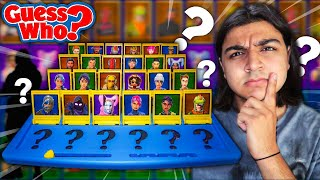 FORTNITE GUESS WHO HERAUSFORDERUNG! | *WIE ZU MACHEN FORTNITE GUESS WHO* | GUESS THAT FORTNITE SKIN GAME
