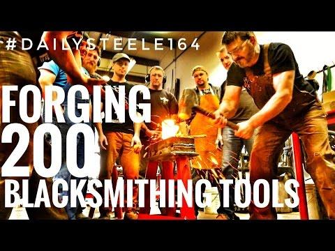 FUNNEST BLACKSMITHING EVER: Hand Forging 200 Blacksmithing Tools!!!