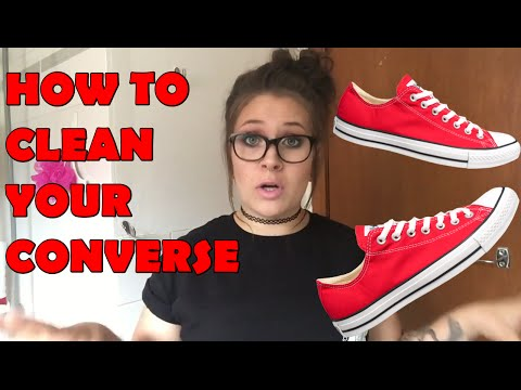 HOW TO CLEAN YOUR CONVERSE(CANVAS SHOES) | Katt Kettle