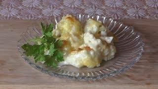 Вкусно, быстро и полезно: Цветная капуста под молочно-сырным соусом