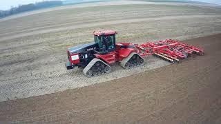 CASE IH QUADTRAC 9380 & Väderstad Top Down 700 Cultivator