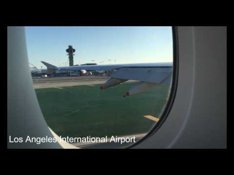 British Airways Flight 282 A380 World Traveller Class LAX Take Off