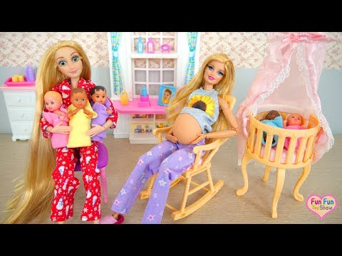 Barbie doll Nursery Room Playset Kamar bayi Barbie Quarto do bebê