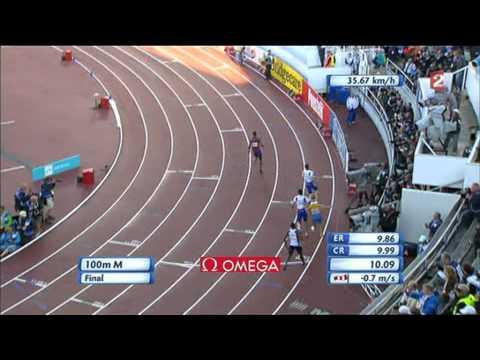 100m Final Helsinki 2012 European Athletics Championships