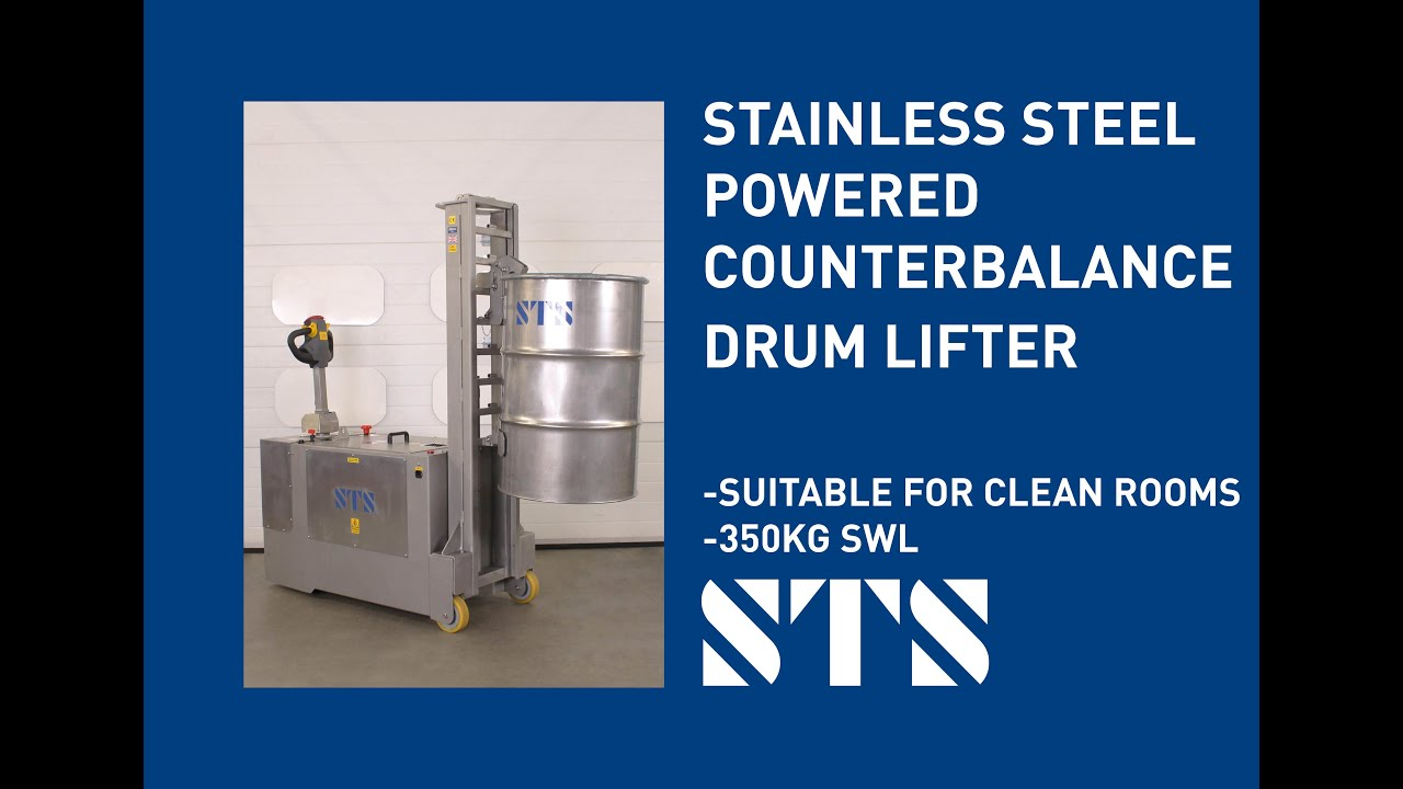 Stainless Steel Powered Counterbalance Drum Lifter (DPC01-R760-SS)