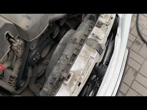 Mercedes Benz w210 чистим радиатор от пыли и песка cleaning coolant radiator