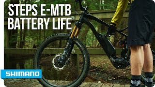 How Long Can a Shimano STEPS E-MTB Battery Last? | SHIMANO