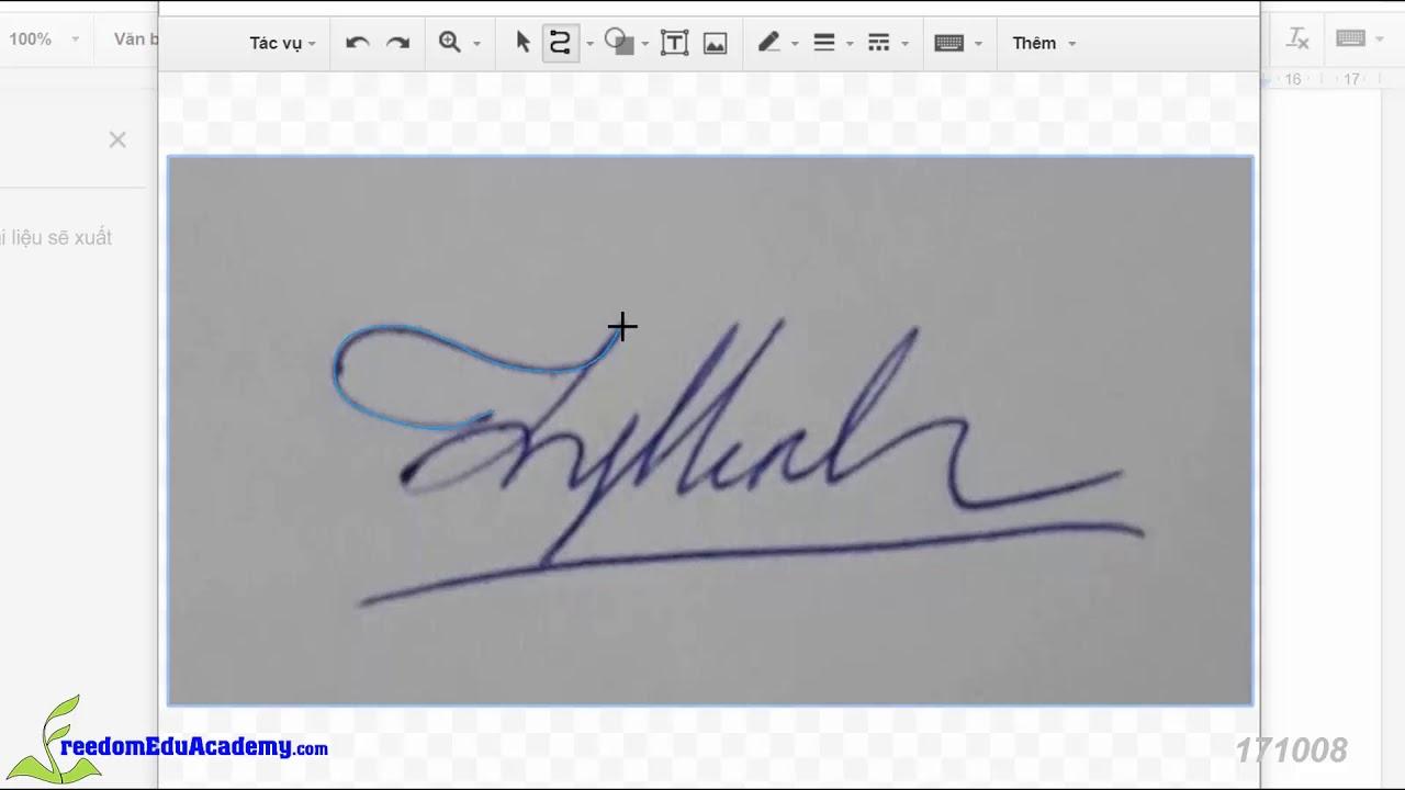 10. Tạo Chữ Ký Viết Tay với công cụ Bản Vẽ