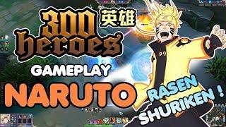 300 heroes MOBA Anime ! Gameplay Naruto ! Futon-Rasen Shuriken !