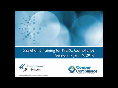 SharePoint and Best Practices for NERC Compliance - Session 1 of 3