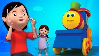 บ๊อบรถไฟ   ช็อคโกแลตคเลน   ช็อคโกแลตโลกการ   3D Rhymes   Kids Song   Bob Train Chocolate Lane