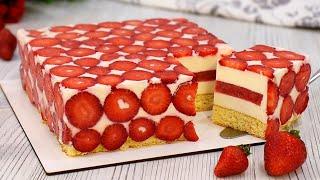 Этот Изумительный Клубничный Муссовый Торт приведёт Ваших гостей в восторг! ☆ Марьяна Рецепты