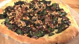 #SimplyGood Spanish Coca with Wilted Greens, Walnuts and Raisins by Joanne Weir