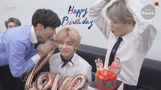 [RUS SUB][Рус.саб] [BANGTAN BOMB] V's Surprise(?) Birthday Party - BTS (방탄소년단)