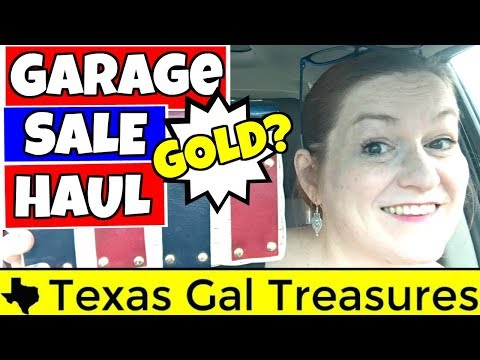 Garage Sale Haul & Thrift Store Haul 2018 - GOLD!! Jewelry, Vintage Items to Sell on Ebay and Etsy
