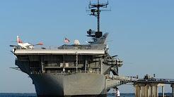 USS Lexington docked in Corpus Christi Texas.