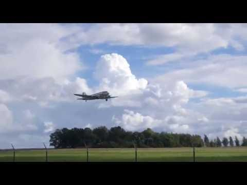 Finnish Airlines DC-3 Takeoff from Tartu airport