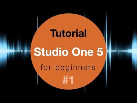 Studio One 5 for beginners #1 Presonus tutorial