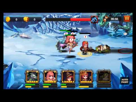 Heroes Charge: Northern Dragon difficulty 8 Team 1