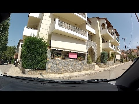 The Historic town of Kalavryta (Καλάβρυτα, city driving, Greece) - onboard camera