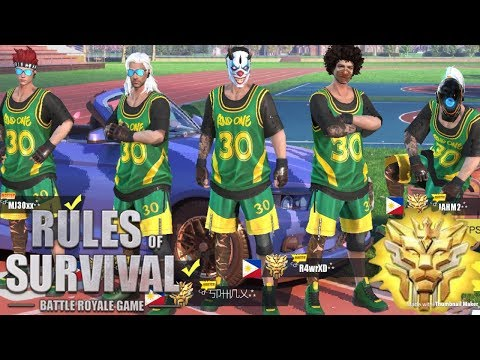 THE BEST BASKETBALL TEAM EVER!! - Rules of Survival (Tagalog)