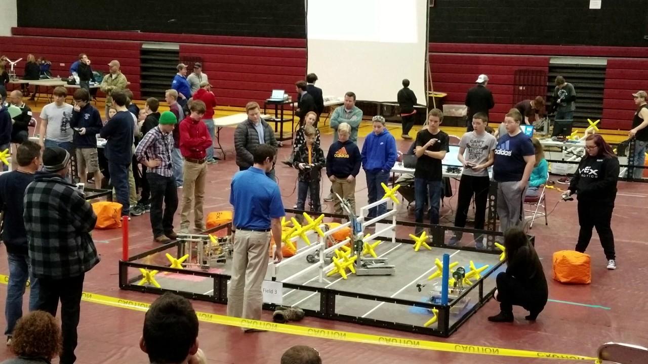 VEX ROBOTICS competition 2017-02-04 - D - YouTube