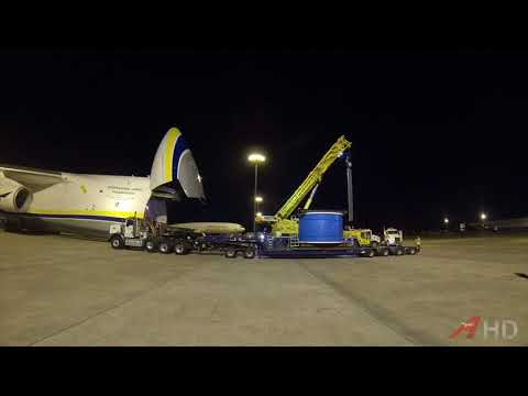 Raw Video: Antonov An-124 Loads Up 51-Ton Cable Spool