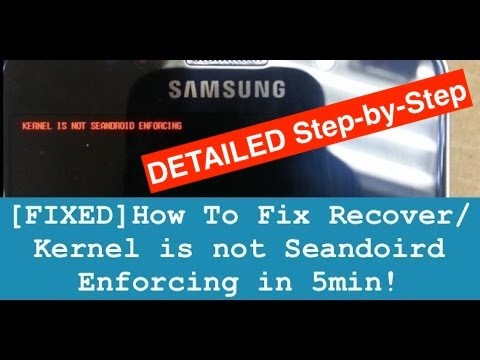 how to fix recovery is not seandroid enforcing