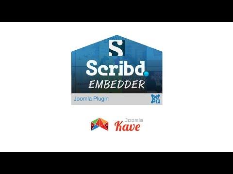 Scribd Books Embedder- Joomla Plugin