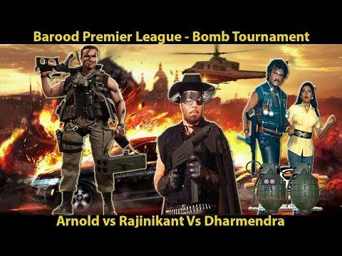 Barood Premier League - Arnold vs Rajnikanth vs Dharmendra - Hollywood vs Bollywood vs Kollywood