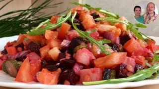 Салат «ВИНЕГРЕТ» | блюдо в ПОСТ | винегрет с чечевицей!
