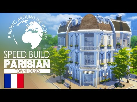 The Sims 4 - Speed Build - Parisian Townhouse (Around the Wo