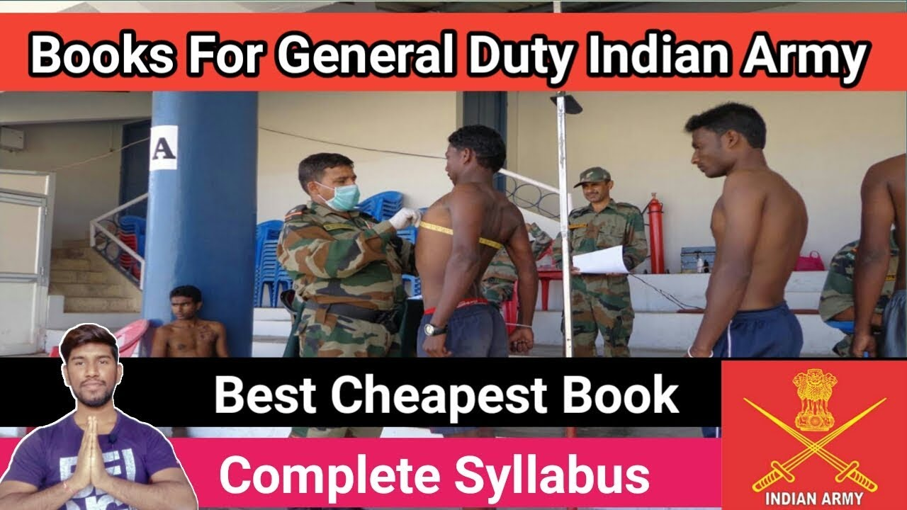 Books For General Duty Indian Army 2019    Best And Cheapest Book
