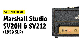 Marshall - SV20H - SV212 (Studio Series) Sound Demo (no talking)