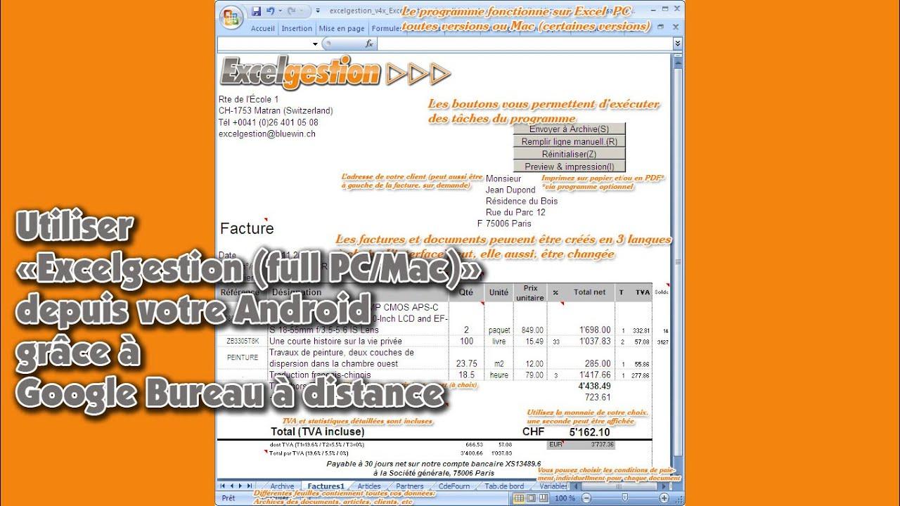 utiliser quot excelgestion pc mac quot depuis votre android gr 226 ce 224 bureau 224 distance