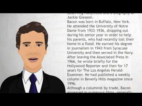 James Bacon author - Wiki Videos