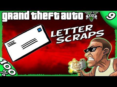 GTA V - ALL 50 Letter Scrap Locations [100% GOLD Walkthrough]