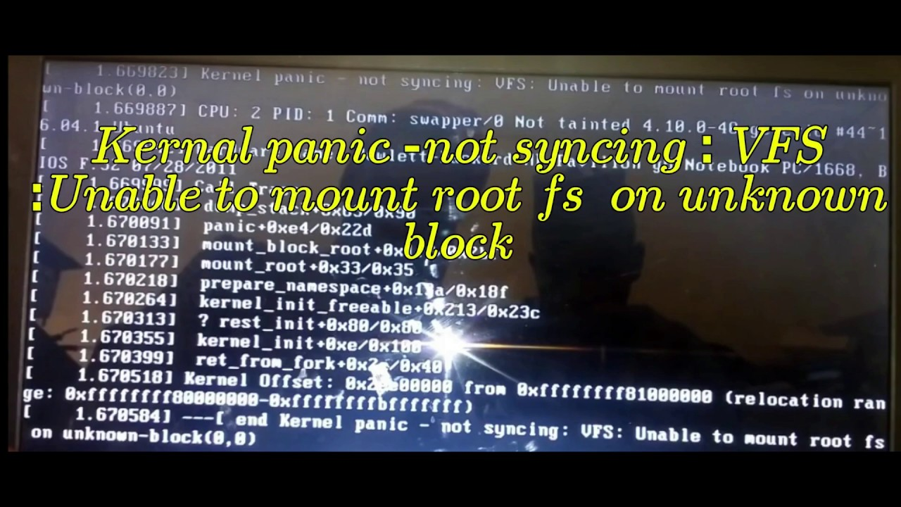 Kernal panic not syncing Unable to mount root mint 19 | ubuntu