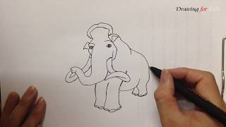 ICE AGE 2 - How to draw MANNY from ICE AGE step by step