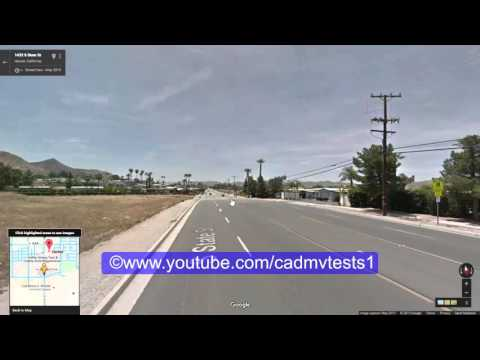 Hemet, California behind the wheel test route # 2