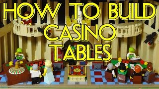 How To Build Lego Casino Poker & Roulette Tables