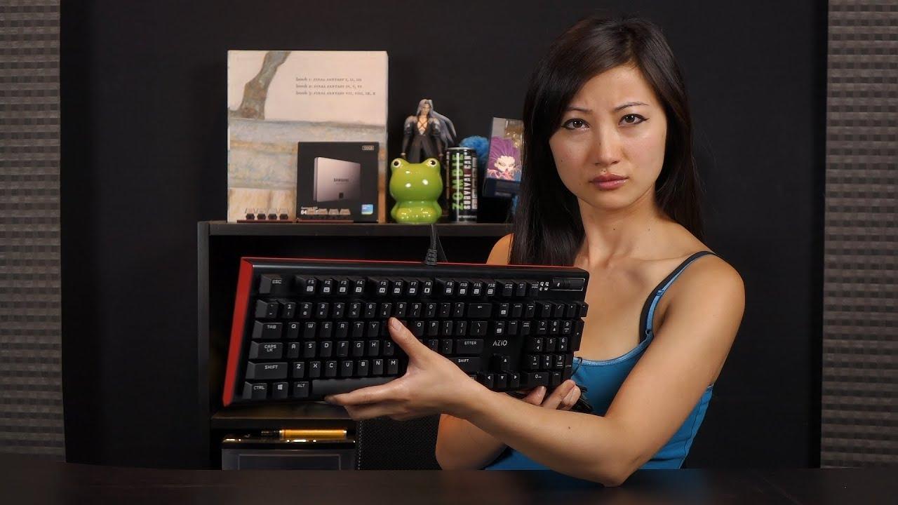b297bdb3305 Azio MGK-1 Backlit Mechanical Gaming Keyboard Unboxing: Kailh Blues ...